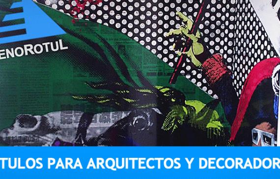 Rótulos para arquitectos y decoradores en Alicante