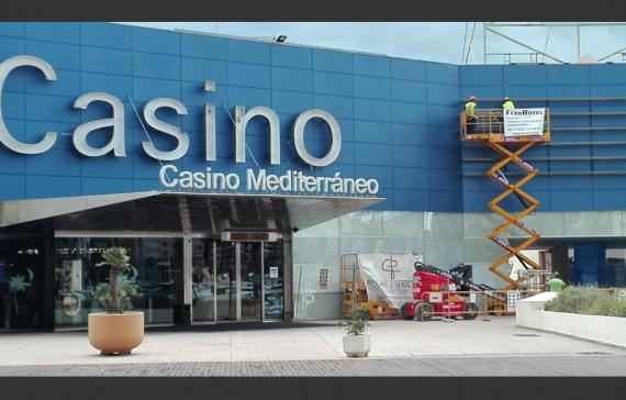 Rótulo y Fachada alucobond Casino Mediterráneo Alicante