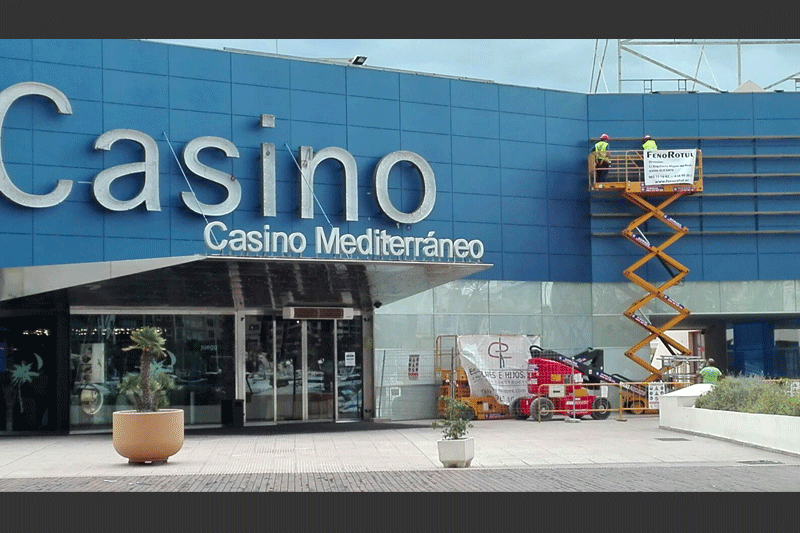 Fachadas alucobond Casino Mediterraneo Alicante